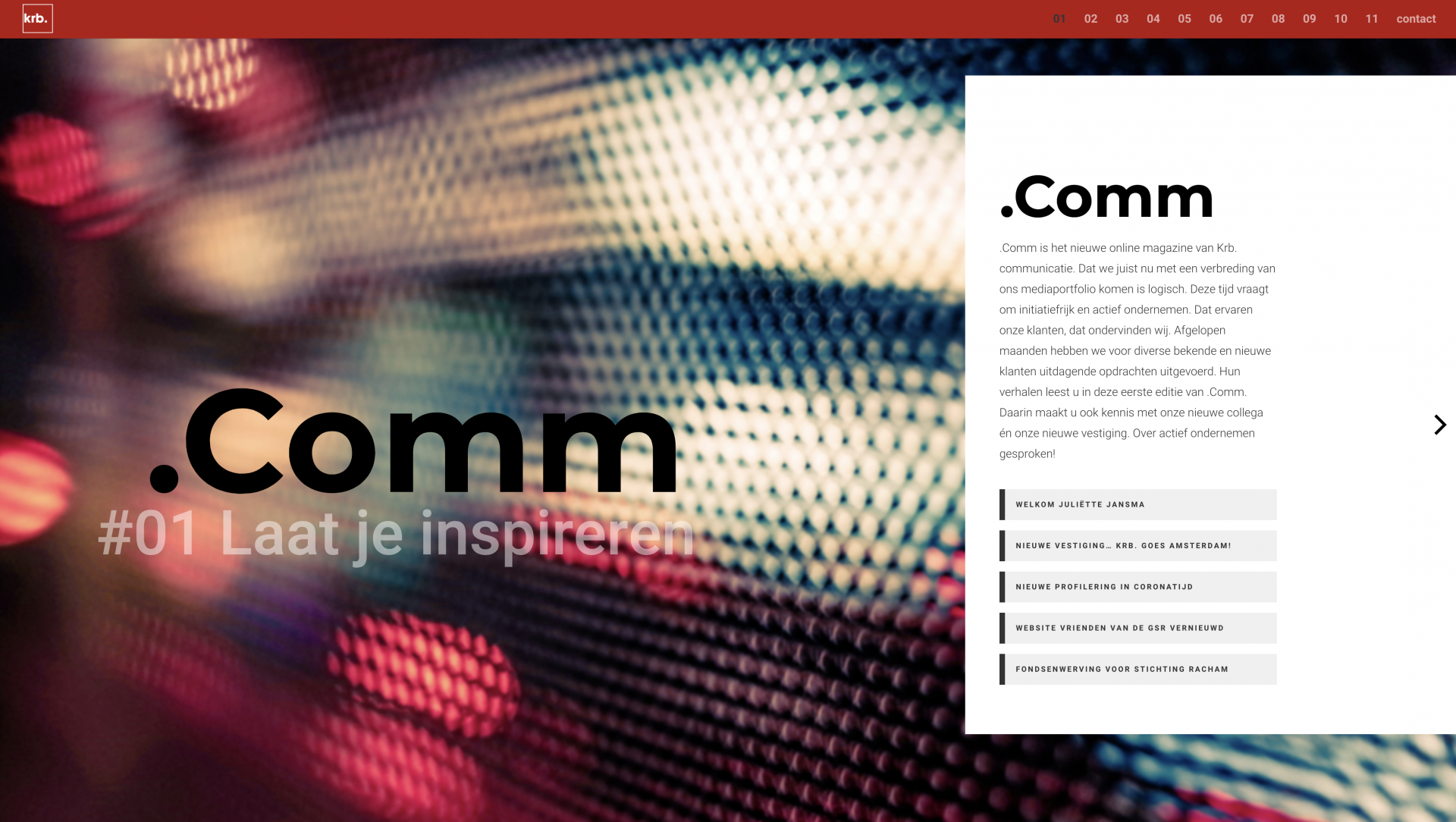 .Comm online magazine